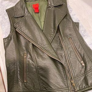 Faux Leather Moro Vest